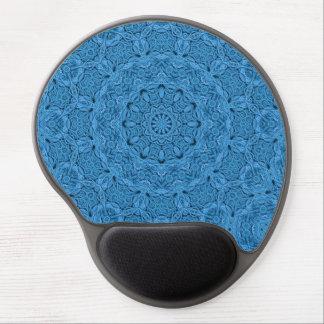 Mousepad De Gel Gel azul decorativo Mousepad do caleidoscópio do