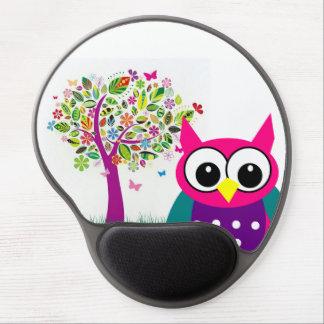 Mousepad De Gel Gel bonito Mousepad da coruja