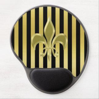Mousepad De Gel Gel elegante Mousepad da flor de lis do ouro