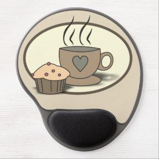 Mousepad De Gel Gel Mousepad do café e do muffin para amantes do
