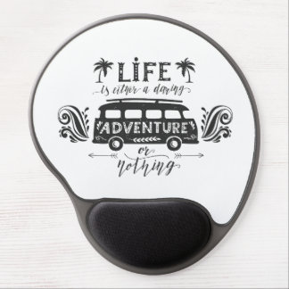 Mousepad De Gel Gel Mousepad - vida uma aventura audaz