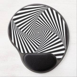 Mousepad De Gel Ilusão óptica espiral branca preta bonita