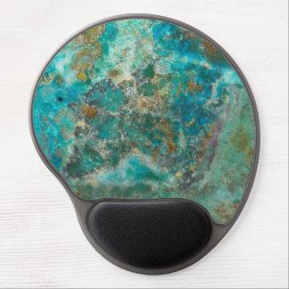 Mousepad De Gel Imagem de pedra azul de Chrysocolla