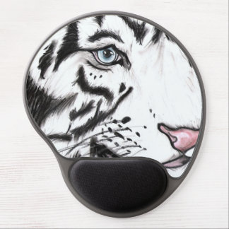 Mousepad De Gel Leopardo de neve (arte de Kimberly Turnbull)
