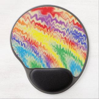 Mousepad De Gel Linhas de fogo Raging do arco-íris