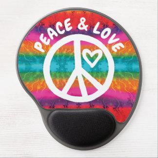 Mousepad De Gel Listras da tintura do laço da paz e do amor