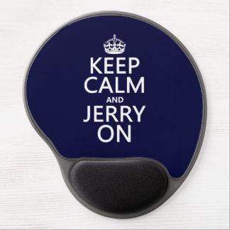 Mousepad De Gel Mantenha a calma e o Jerry em (alguma cor)