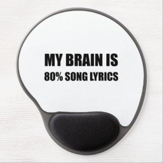Mousepad De Gel Meu cérebro é poemas líricos de uma canção de 80
