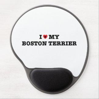Mousepad De Gel Mim coração meu gel Mousepad de Boston Terrier