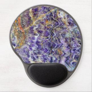 Mousepad De Gel mineral de pedra amethyst am da gema da rocha do