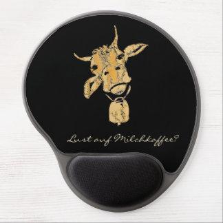 """Mousepad De Gel Mousepad com motivo de vaca """"vontade em café com"""