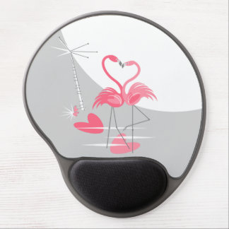 Mousepad De Gel Mousepad do gel da lua do amor do flamingo grande