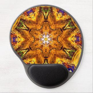 Mousepad De Gel Multi mandala colorida dourada
