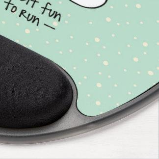 Mousepad De Gel Natal Running da rena do exercício