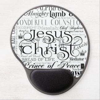 Mousepad De Gel Nomes do gel Mousepad da tipografia de Jesus