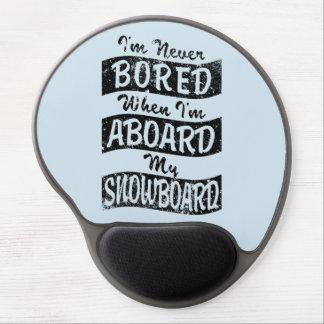 Mousepad De Gel Nunca furado A BORDO de meu SNOWBOARD (preto)