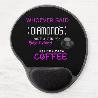 Mousepad De Gel O café é meu tapete do rato do gel de BFF