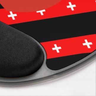 Mousepad De Gel O suíço listra a bandeira