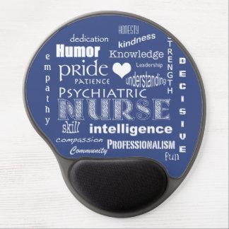 Mousepad De Gel Orgulho psiquiátrica da enfermeira+Coração