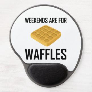 Mousepad De Gel Os fins de semana são para Waffles