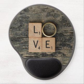 Mousepad De Gel Palavra criativa do amor com elementos de Srcabble