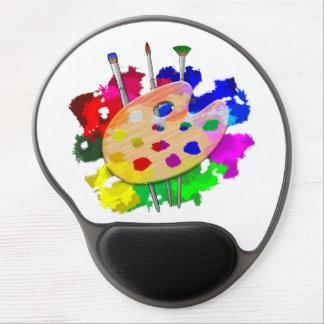 Mousepad De Gel Paleta e escovas do artista