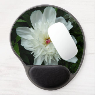 Mousepad De Gel Peônia branca