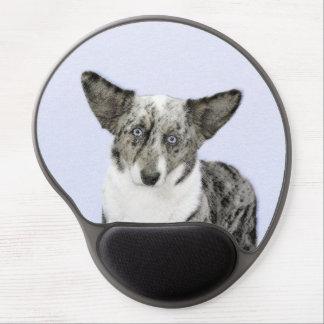 Mousepad De Gel Pintura do Corgi de Galês do casaco de lã - arte