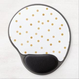 Mousepad De Gel Pontos modernos elegantes dos confetes do ouro