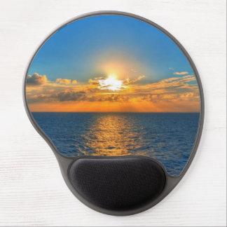Mousepad De Gel Por do sol bonito do oceano