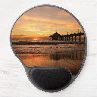 Mousepad De Gel Por do sol da praia do cais