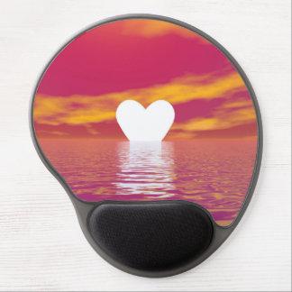Mousepad De Gel Por do sol do amor - 3D rendem