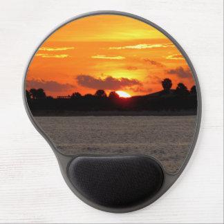 Mousepad De Gel Por do sol em meu gel Mousepad da mente