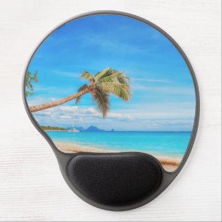 Mousepad De Gel Praia das caraíbas tropical
