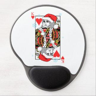 Mousepad De Gel Rei do Feliz Natal dos corações