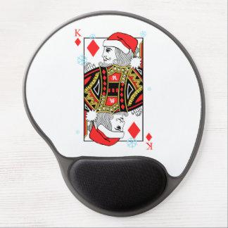 Mousepad De Gel Rei do Feliz Natal dos diamantes