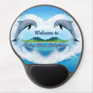 Mousepad De Gel Tapete do rato do golfinho dos azuis bebés