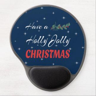 Mousepad De Gel Tenha um Natal alegre do azevinho