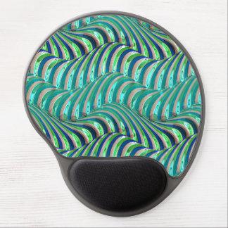 Mousepad De Gel Teste padrão azul dos redemoinhos das ondas de