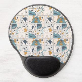 Mousepad De Gel Teste padrão cómico do monstro | OM Nom Nom do