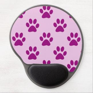 Mousepad De Gel Teste padrão cor-de-rosa & roxo bonito do