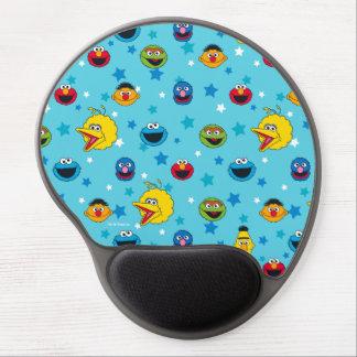 Mousepad De Gel Teste padrão de estrela dos melhores amigos do
