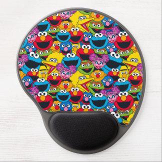 Mousepad De Gel Teste padrão do grupo do Sesame Street