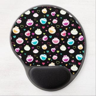 Mousepad De Gel Teste padrão doce do coração do material de Elmo &