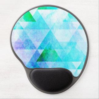 Mousepad De Gel Teste padrão geométrico da aguarela azul