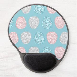 Mousepad De Gel Teste padrão Pastel Brainy (cérebros Pastel
