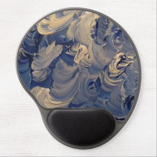 Mousepad De Gel Trabalhos de arte azuis do redemoinho
