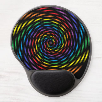 Mousepad De Gel Um Pinwheel do arco-íris no movimento