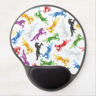 Mousepad De Gel Unicórnio colorido do teste padrão