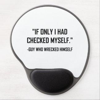 Mousepad De Gel Verificado antes das citações engraçadas